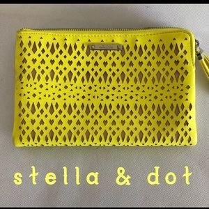 Stella & Dot Laser Cut Make-Up/Wallet